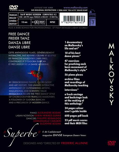 DVD La Danse Libre de Malkovsky